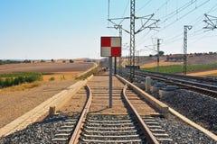 Definitieve spoorweg Royalty-vrije Stock Fotografie