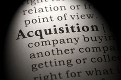 Definition of acquisition. Fake Dictionary, Dictionary definition of the word acquisition. including key descriptive words royalty free stock image