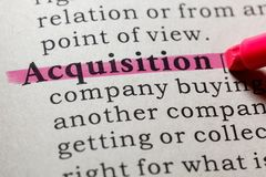 Definition of acquisition. Fake Dictionary, Dictionary definition of the word acquisition. including key descriptive words stock image