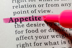 Definition of appetite. Fake Dictionary, Dictionary definition of the word appetite. including key descriptive words Stock Photography