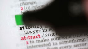 Definition of attorney stock video