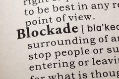 Definition av blockad Arkivbilder