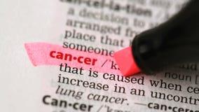 Definition av cancer arkivfilmer