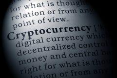 Definition av cryptocurrencyen royaltyfri bild