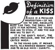 Definition av en kyss vektor illustrationer