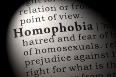 Definition av homophobia Royaltyfri Foto