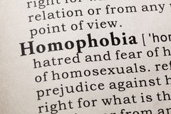 Definition av homophobia Royaltyfri Bild
