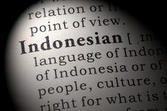 Definition av indones Royaltyfria Bilder