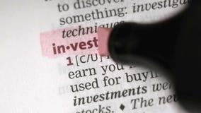 Definition av investeringen lager videofilmer