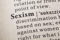 Definition av könsdiskriminering Royaltyfri Fotografi