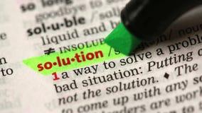 Definition av lösningen lager videofilmer