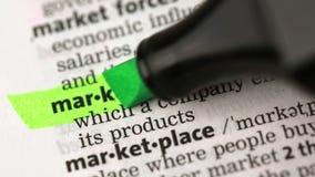 Definition av marknadsföringen arkivfilmer