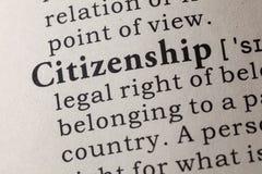 Definition av medborgarskap royaltyfri fotografi