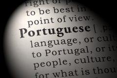 Definition av portugis Arkivbilder