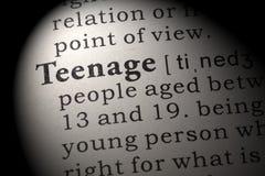 Definition av tonårs- Fotografering för Bildbyråer