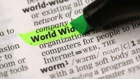 Definition av world wide web arkivfilmer