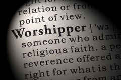 Definition av worshipperen Arkivbilder