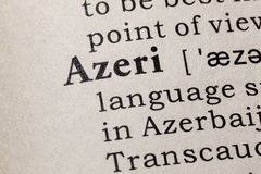 Definition of Azeri. Fake Dictionary, Dictionary definition of the word Azeri. including key descriptive words Royalty Free Stock Images