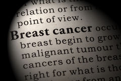 Definition of  breast cancer Royalty Free Stock Photos