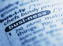 Definition of Business Royalty Free Stock Photography