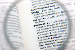 Definition of business Royalty Free Stock Photo