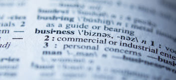 Definition of business in dictionary Royalty Free Stock Photography