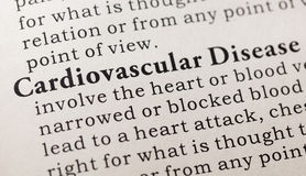 Definition of cardiovascular disease Stock Image