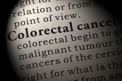 Definition of Colorectal cancer Stock Images