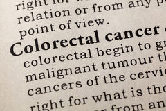 Definition of Colorectal cancer Royalty Free Stock Photos