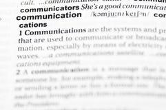 Definition of communication Stock Photo