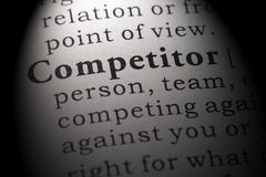 Definition of competitor. Fake Dictionary, Dictionary definition of the word competitor. including key descriptive words stock photo