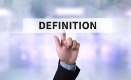 DEFINITION CONCEPT Stock Image