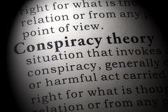 Definition of conspiracy theory. Fake Dictionary, Dictionary definition of the word conspiracy theory. including key descriptive words Stock Photos