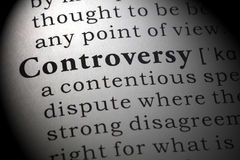 Definition of controversy. Fake Dictionary, Dictionary definition of the word controversy Stock Photography