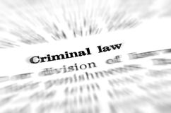 Definition of Criminal Law. In dictionary Royalty Free Stock Photo