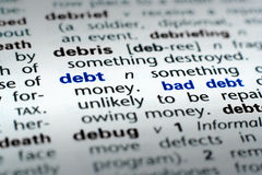 Definition of Debt Stock Photos