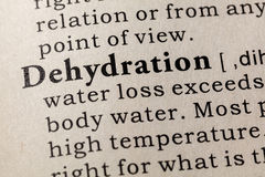 Definition of Dehydration. Fake Dictionary, Dictionary definition of the word Dehydration. including key descriptive words stock image