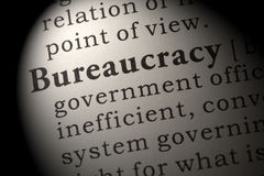 Definition der Bürokratie Lizenzfreies Stockfoto