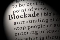 Definition der Blockade Stockfotografie