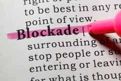 Definition der Blockade Lizenzfreies Stockbild