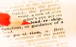 Definition der Führung Stockfoto