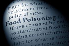 Definition der Lebensmittelvergiftung Stockfotos