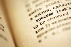 Definition des Erfolgs stockfotos