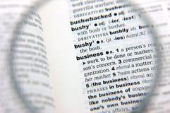 Definition des Geschäfts Lizenzfreies Stockfoto