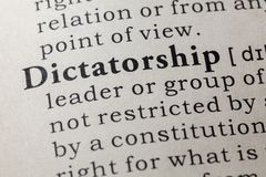 Definition of dictatorship. Fake Dictionary, Dictionary definition of the word dictatorship. including key descriptive words stock images