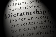 Definition of dictatorship. Fake Dictionary, Dictionary definition of the word dictatorship. including key descriptive words stock photography