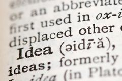 Definition in a Dictionary Royalty Free Stock Photos