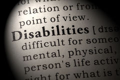 Definition of Disabilities Royalty Free Stock Photos