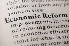 Definition of economic reform Stock Images