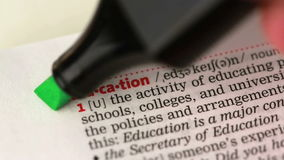Definition of education stock video